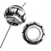 Metalized Bead with Sterling Silver coating 8X11mm Rondell